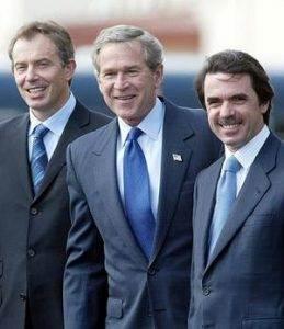 Els expresidents Blair, Bush i Aznar