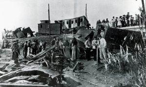 Accident de tren a la riera de Riudecanyes (25-11-1907)