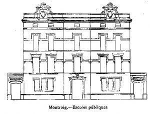 1910 Croquis Escoles noves