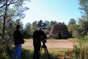 Enregistrant imatges de la barraca dels Comuns del Pellicer