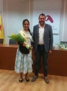 La nova pubilla, Paula Hernández Florencio amb l'alcalde, Fran Morancho