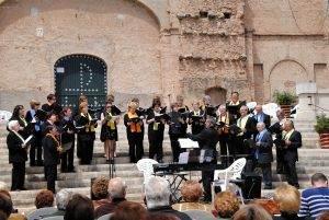 El Joan Carles Blanch dirigint la Coral l'any 2012
