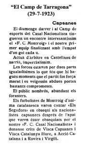 19230729 El Camp de Tarragona Futbol